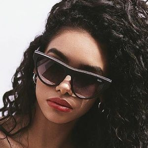 Quay Black & Gold Accent Flight Risk Sunglasses